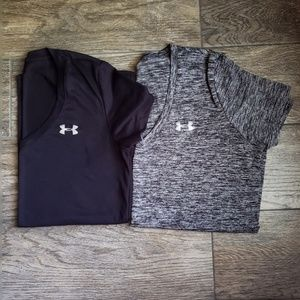 TWO Women's Under Armor Shirts!